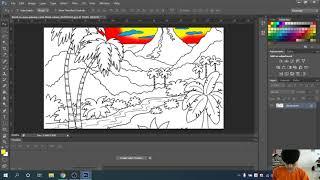 Hướng dẫn tô màu bức tranh phong cảnh trên Photoshop