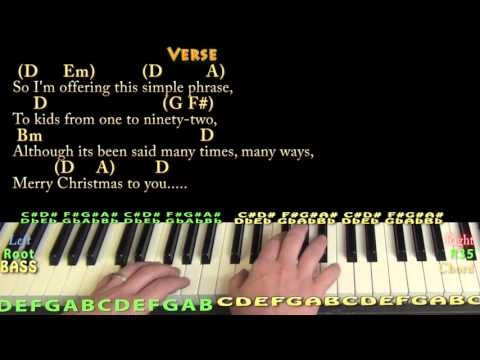 The Christmas Song (CHRISTMAS) Piano Cover Lesson in D - Chords/Lyrics