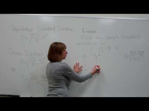 Finding the sample standard deviation using the computation formula