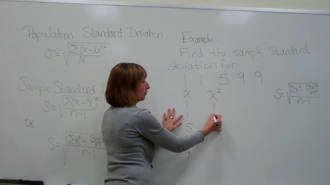 Finding the sample standard deviation using the computation ...