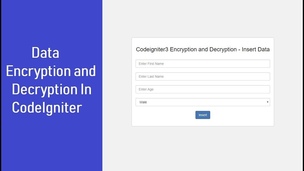 Data Encryption and Decryption In CodeIgniter | Webslesson