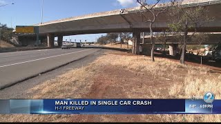 Man killed in early morning crash on H-1 Freeway near airport