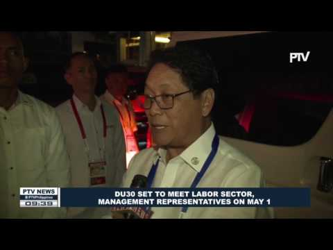 PDU30 set to meet labor sector, management representatives on May 1