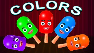 Colors for Children Learn with Ice Cream - Kids Learning Videos - Colours for Children