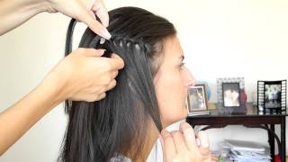 Плетение косы Водопад/ Waterfall braid hair tutorial