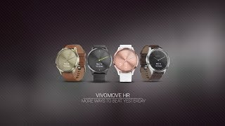 The stylish vívomove HR hybrid smartwatch features a touchscreen wi...