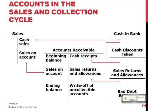 Accounts in the Sales & Collection Cycle