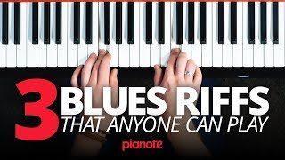 3 Blues Piano Riffs That Anyone Can Play