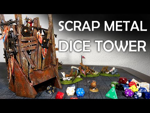 Building a Dice Tower from Scrap Metal (Terrain for D&D)