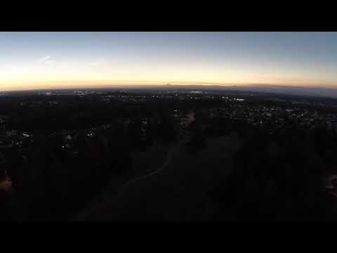 Drone footage of the Totality of the Eclipse over Oregon