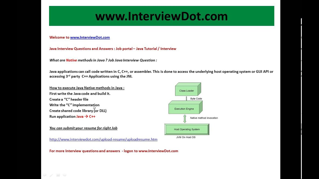 what are native methods in java job interview question and answer what are native methods in java job interview question and answer