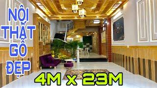 Bán nhà Gò Vấp|( 43 )4m x 23m Nhà 3 lầu nội thất Ốp Gỗ đẹp lung linh tại Lê Văn Thọ Gò Vấp