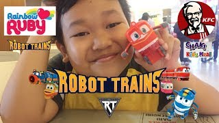 Robot Trains dan Rainbow Ruby KFC Chaki Kids Meal