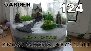 GARDEN 124 - Zrób to sam - Zimowy ogród w szklanym słoju - Świeczniki w kieliszkach