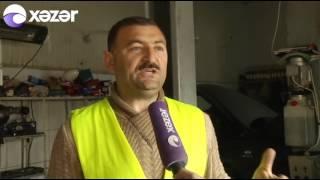 Evakuator Bakıda avtomobilə külli miqdarda ziyan vurub