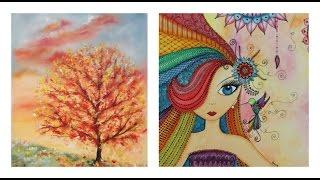Manos a la Obra TV Programa 11 - Pintar al Oleo - Cuadro arbol de Otoño - Zentangle - Acuarelas