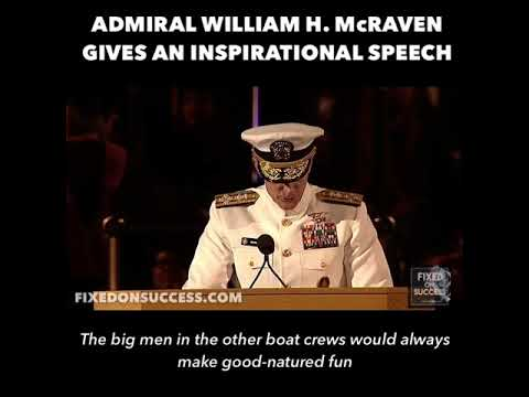 Make Your Bed Speech by Admiral William H. McRaven