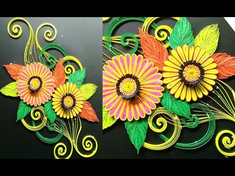 Diy quilling Flower  tutorial : how to make paper quilling Art beautiful flowers (quilling art) thumbnail
