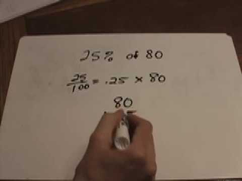 MATH LESSON: Finding a Percent of a Number