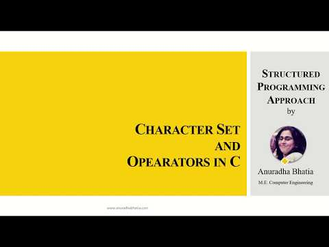 Character Set and Operators in C