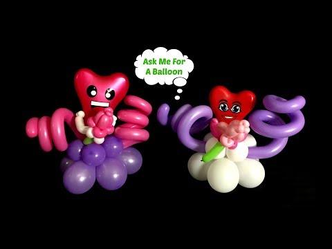 Valentine Heart Balloon Centerpiece Tutorial