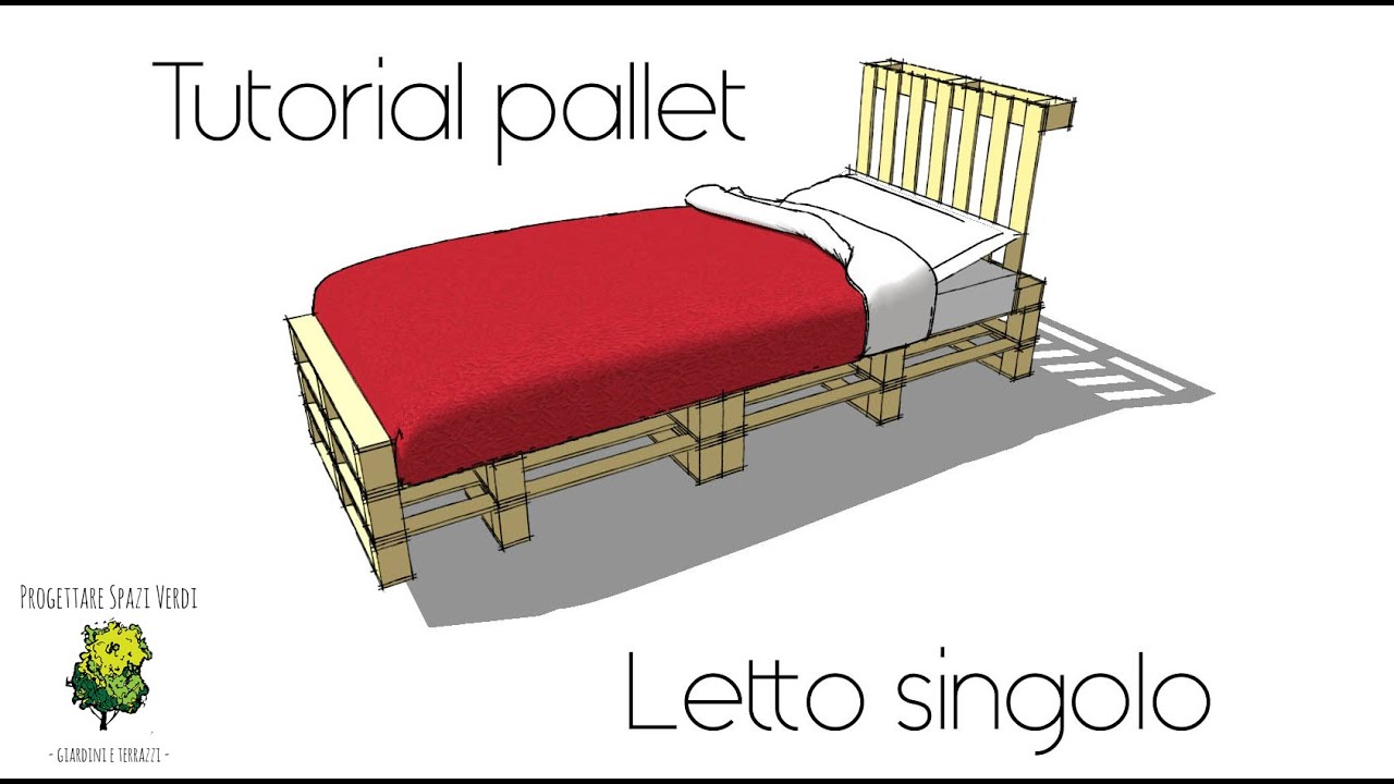 Tutorial fai da te letto pallet come costruire un letto singolo con i bancali diy pallet youtube - Letto contenitore fai da te ...