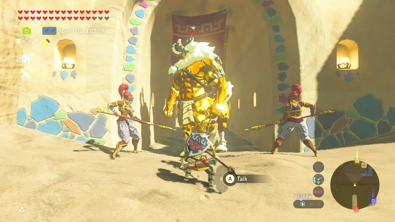 Gerudo Town Breath Of The Wild >> Breath of the Wild: Pet Gold Lynel for Riju | No Hacks - YouTube