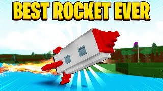 THE MOST PERFECT ROCKET! In Build A Boat For Treasure In Roblox