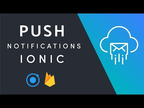 Ionic Native Push Notifications + Firebase Cloud Messaging
