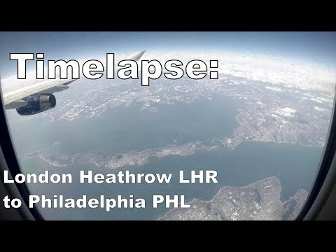 London Heathrow To Philadelphia In 3 Minutes Time Lapse Plane Flight 747