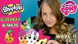 My Little Pony Wave 11 Blind Bags Ep. 2 MLP Blind Bag | Shopkins Giveaway Results Thumbnail