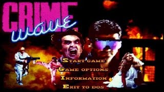Crime Wave gameplay (PC Game, 1990)