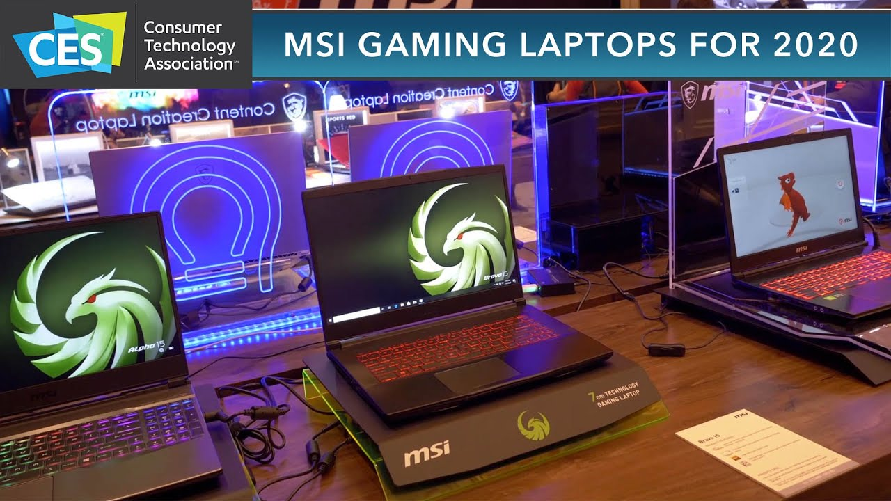 CES 2020: MSI Gaming laptops for 2020 !