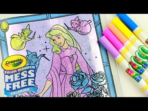 Crayola Color Wonder Disney Princess Glitter Coloring Book #HOLO ...