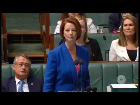Julia Gillard's misogyny speech