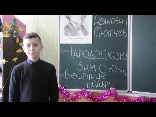 Изображение предпросмотра прочтения – СергейТроколюк читает произведение «Чародейкою Зимою…» Ф.И.Тютчева