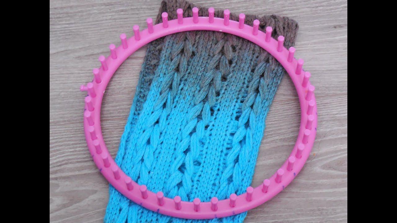 Knitting Loom The Braided Scarfshawl English Subs Youtube