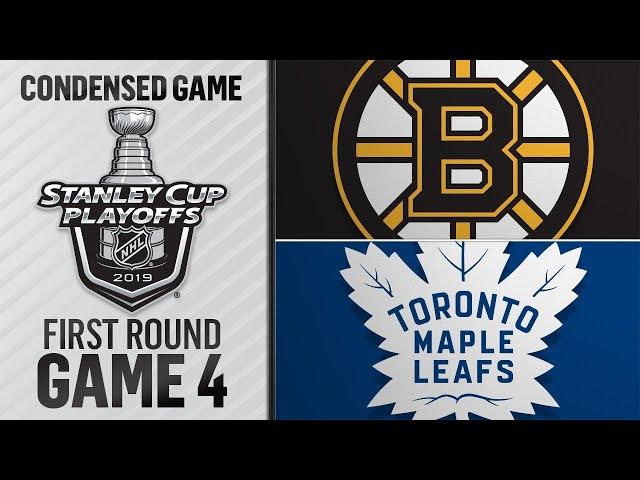 04/17/19 First Round, Gm4: Bruins @ Maple Leafs