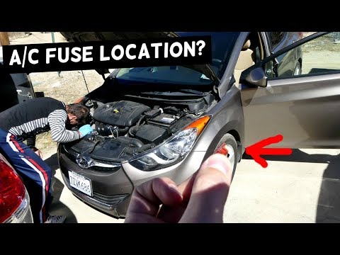 hyundai elantra a/c fuse air conditioner compressor fuse 2011 2012 2013 214  2015 2016 - youtube