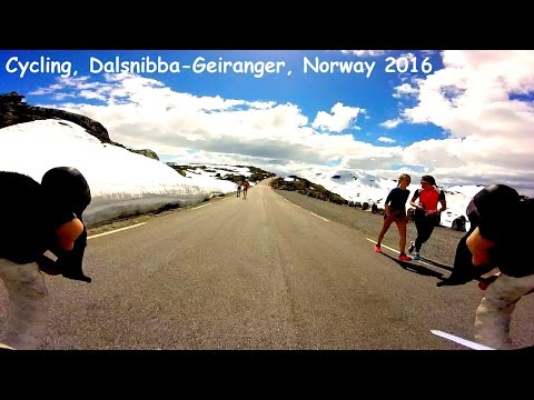 Cycling Dalsnibba-Geiranger, Norway