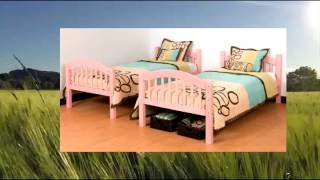 Stork Craft Long Horn Bunk Bed Pink