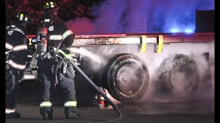 * WATCH * Hyannis Firefighters Cool Things Down After Truck's Brakes Catch Fire Early This Morning