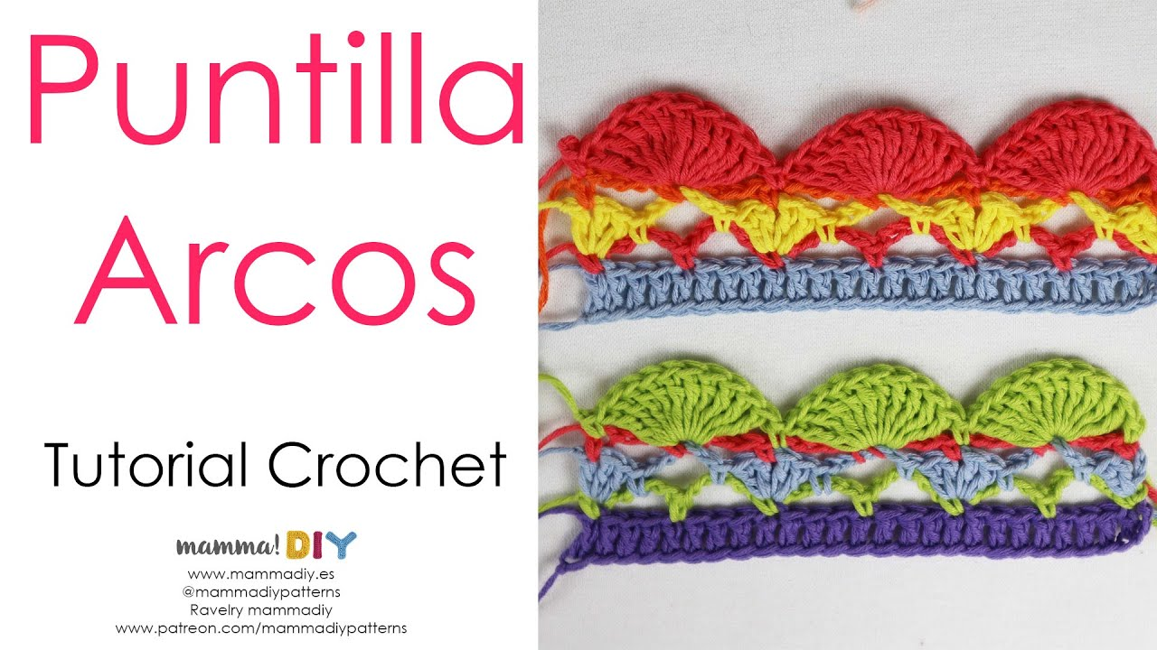 Puntilla fácil en Crochet Arcos por Cecilia Losada de Mamma Do It Yourself #puntillacrochet