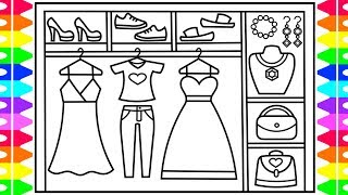 How to Draw Outfits Step by Step for Kids 💜💖💛Outfit Drawings | Outfit Coloring Pages for Kids