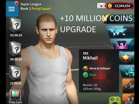 +10 MILION COINS UPGRADE MIKHAIL - RED - Ultimate Tennis