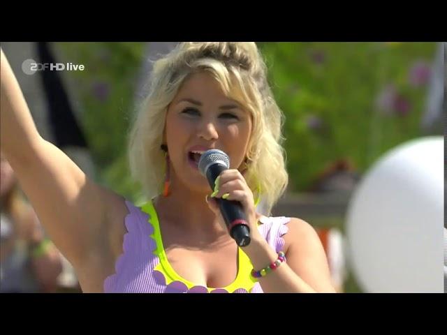 Beatrice Egli-Bunt-ZDF Fernsehgarten 16. 8. 2020