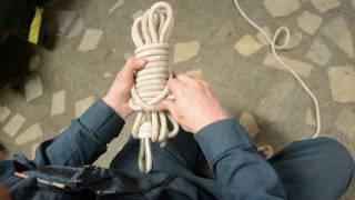 Как смотать веревку в клубок