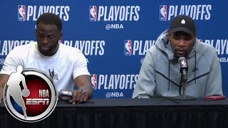 FULL Draymond Green, Kevin Durant, Warriors have to be more disciplined NBA on ESPN