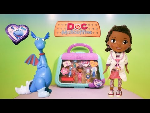 DOC MCSTUFFINS Disney Jr DocMcStuffins on the go Stuffy YouTube Video Toy Review