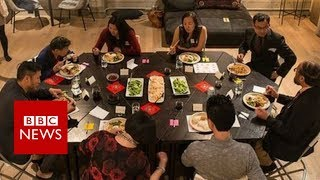 Can Chinese Americans solve differences over dinner - BBC News